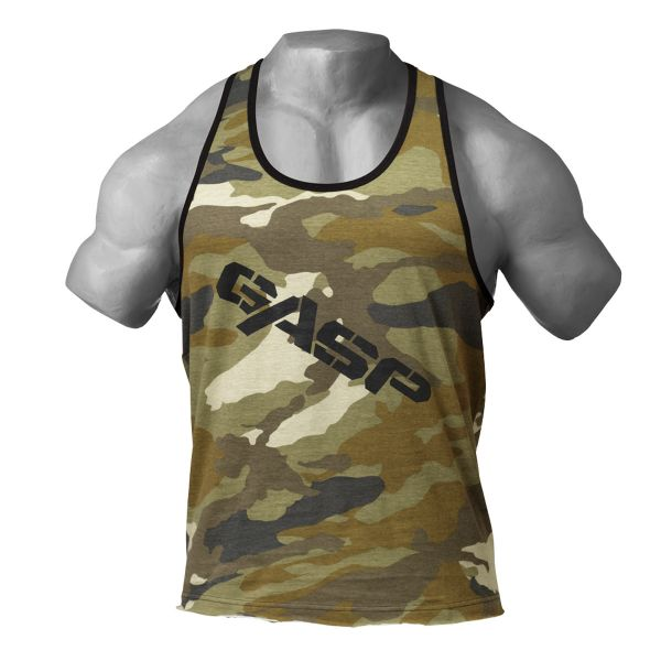 Gasp - Vintage T-Back Tank Top, green camo