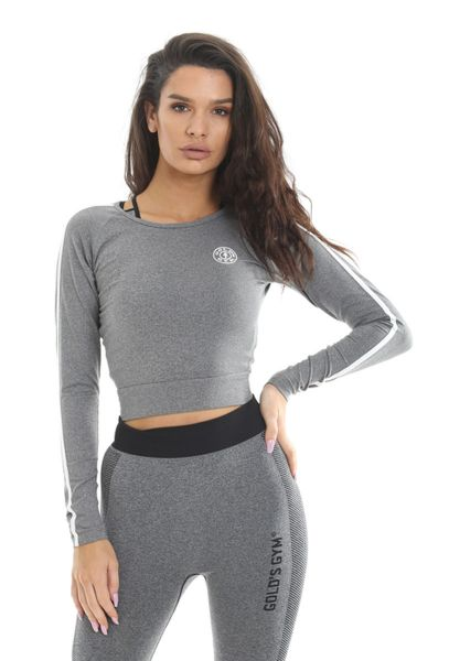 Gold's Gym - Ladies Cropped Sweater, grau