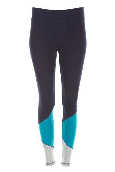 "Winshape - ""Go for Your Colour"" Long Tights WTL13, night blue/petrol/grey melange"