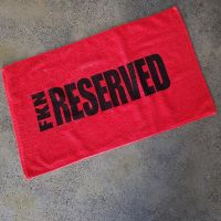 FKN Gym Wear - Reserved Gym Towel Handtuch, rot