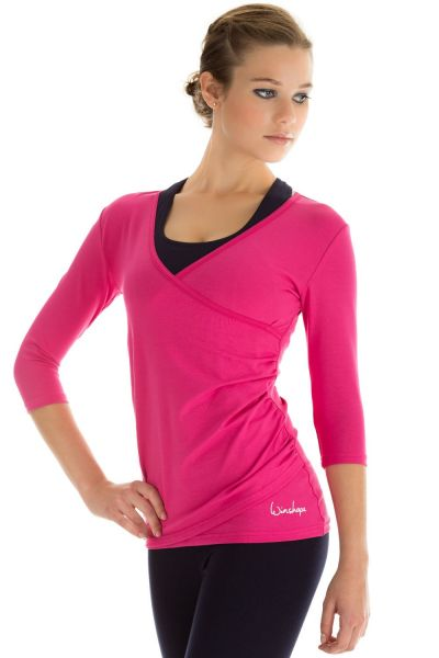 Winshape - 3/4-Arm Shirt in Wickeloptik WS3, pink