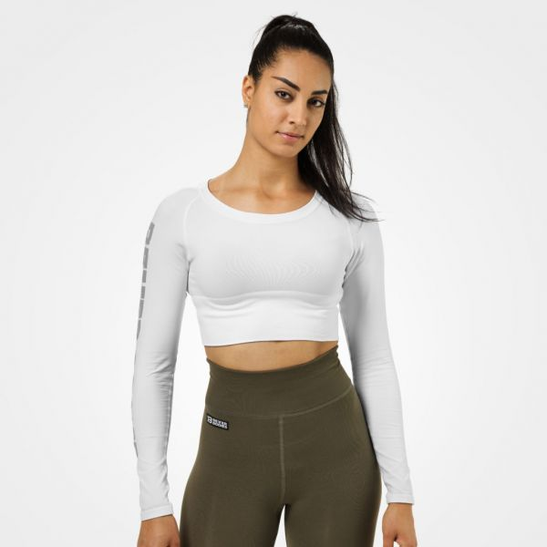 Better Bodies - Bowery Cropped Longsleeve, weiss