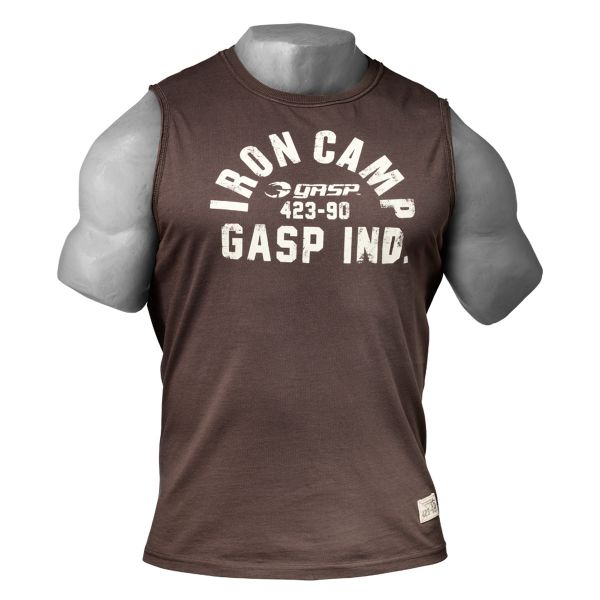 Gasp - Throwback SL Muscle Tank Top, timber