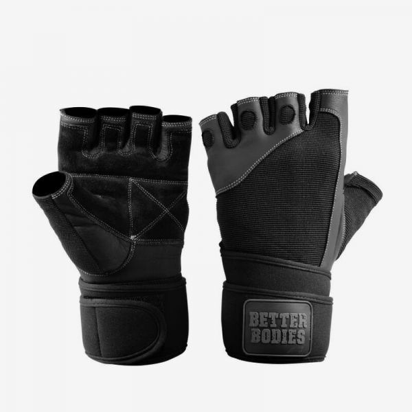 Better Bodies - Pro Wristwrap Gloves, schwarz