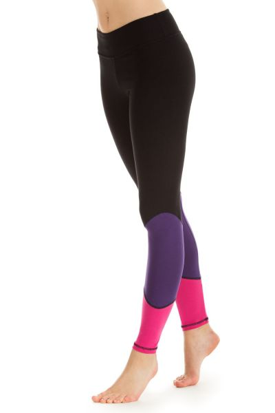 """Winshape - """"Go for Your Colour"""" Long Tights WTL13, schwarz/lila/pink"""