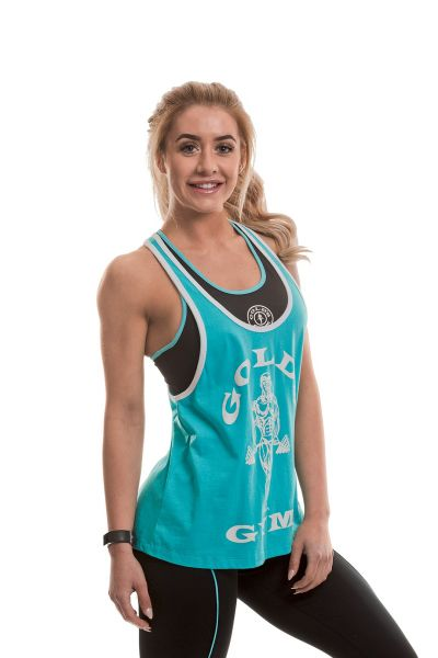 Gold's Gym - Ladies Fitted Stringer Top, türkis