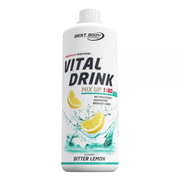 Best Body Nutrition - Vital Drink, Bitter Lemon - 1000ml Flasche