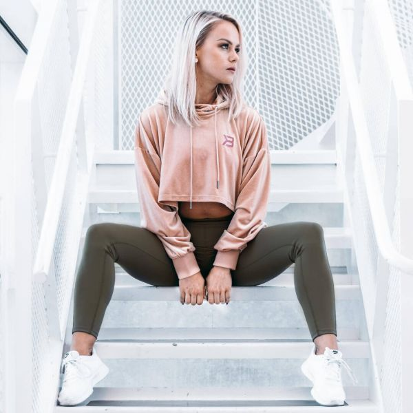 Better Bodies - Chrystie Crop Hoodie, peach beige