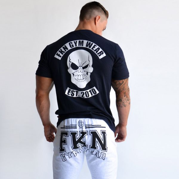 FKN Gym Wear - Skull Gym T-Shirt, navy