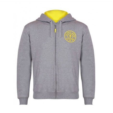 Gold's Gym - Muscle Joe Zipper Hoodie, grau