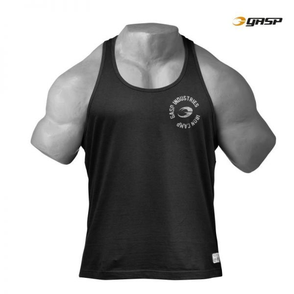 Gasp - Throwback T-Back Tank Top, washed black