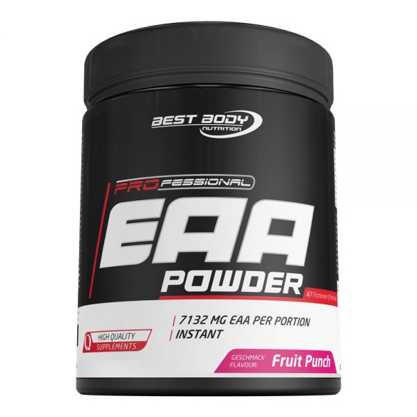 Best Body Nutrition - Professional EAA Powder, Fruit Punch - 450g Dose