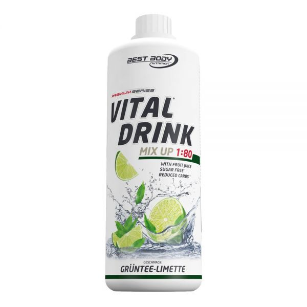 Best Body Nutrition - Vital Drink, Grüntee Limette - 1000ml Flasche