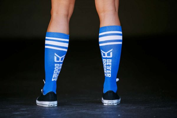 Better Bodies - Knee Socks, strong blue