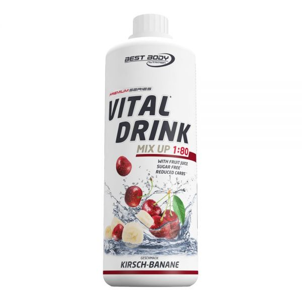 Best Body Nutrition - Vital Drink, Kirsche Banane - 1000ml Flasche