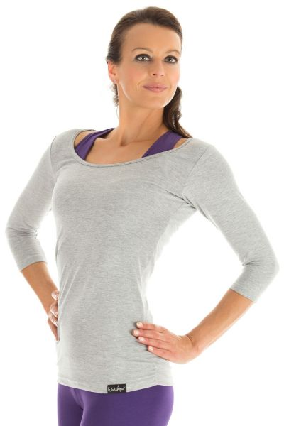 Winshape - 3/4-Arm Shirt WS4, grey melange