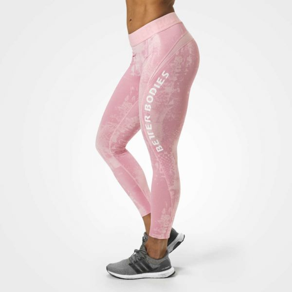 Better Bodies - Gracie Curve Tights, light pink print