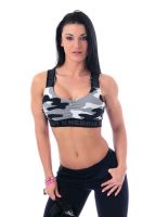 Nebbia - Camo Mini Top Sport BH, camo white