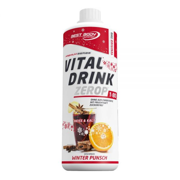 Best Body Nutrition - Vital Drink, Winter Punsch - 1000ml Flasche