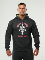 Gold's Gym - Pull Over Hoodie, Charcoal